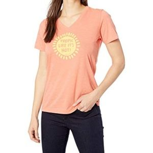 Life is Good - Tropic Hot Summer T-Shirt Orange  M